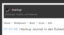 WordPress showcase bs-markup.de