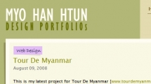 WordPress showcase myohanhtun.com