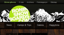 WordPress showcase roninsnowboards.com 