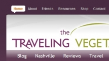 WordPress showcase thetravelingvegetarian.tv