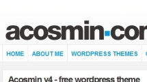 WordPress showcase acosmin.com