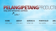 WordPress showcase pelangipetang.com
