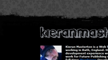 WordPress showcase kieranmasterton.com