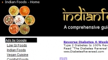 Joomla showcase indianfoodsguide.com